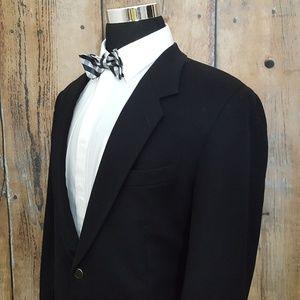 Loro Piana Sport Coat Mens 46R 100% Cashmere Black